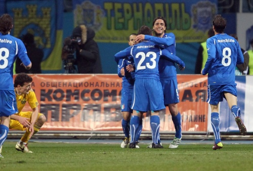 Алессандро Матри и партнеры по сборной Италии